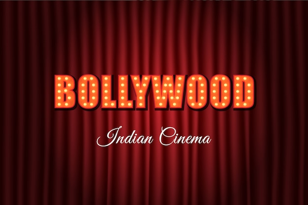 Bollywood indian cinema vintage letters
