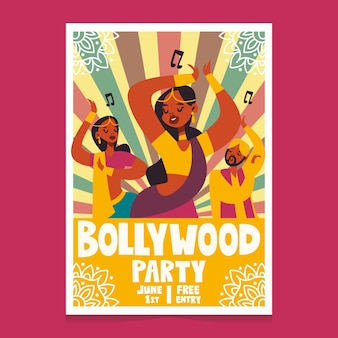 Bollywood indian party poster with women