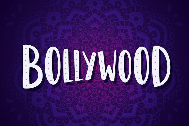 Bollywood lettering with mandala wallpaper