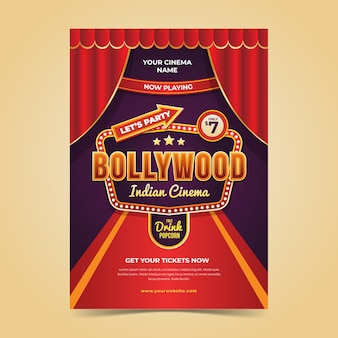 Bollywood party flyer template