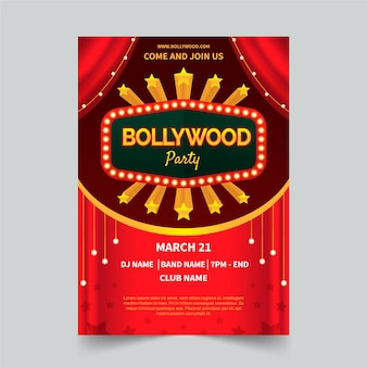 Bollywood party poster concept