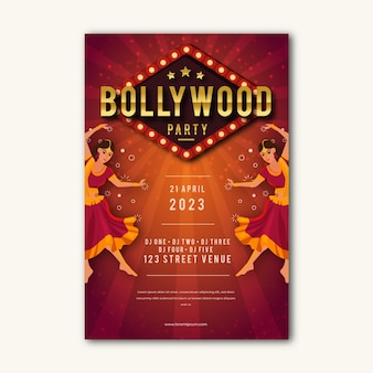 Bollywood party poster style