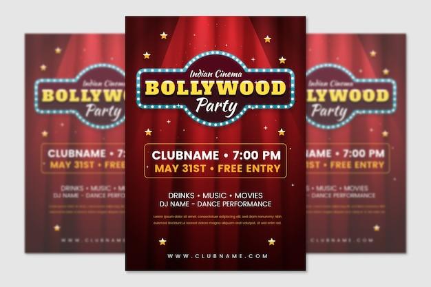 Дизайн шаблона плаката болливудской вечеринки