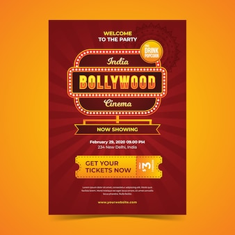Bollywood party poster template