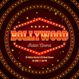 Bollywood style party poster template