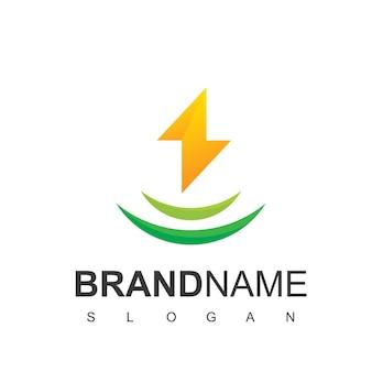 Bolt logo design template, energy symbol