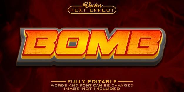 폭탄 폭발 편집 가능한 텍스트 효과 템플릿