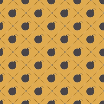 Bomb pattern on simple background. creative and military style illustration
