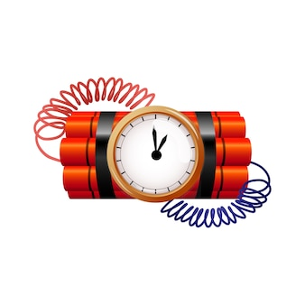 Bomb with clock timer vector