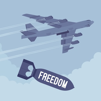 爆撃機と自由爆撃