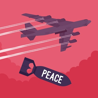Bomber and peace bombing