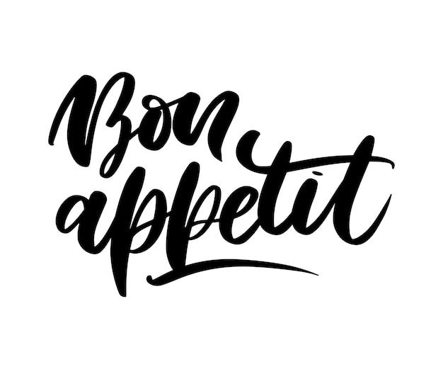 Bon appetit lettering