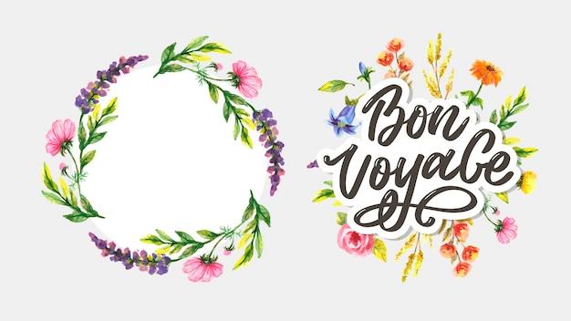 Bon voyage lettering calligraphy