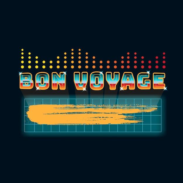 Bon voyage neon sign