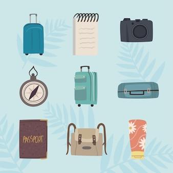 Bon voyage набор девять иконок