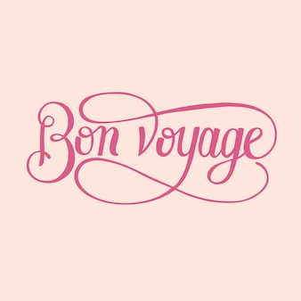 Bon voyage typography design illustration