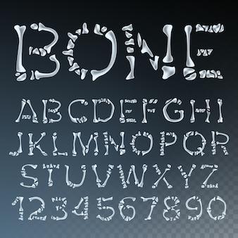 Bone font vector