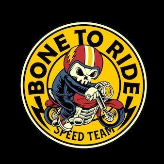 Bone to ride cartoon graphic