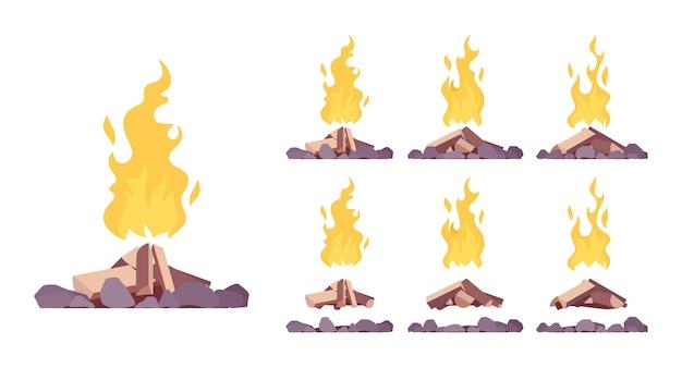 Bonfire construction set