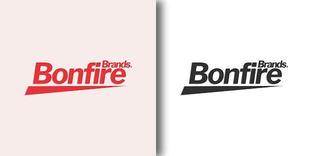 Шаблон логотипа bonfire с современной концепцией