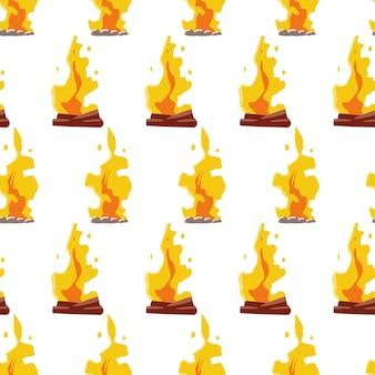 焚き火ベクトルシームレスパターン