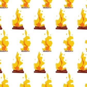 Bonfire vector seamless pattern