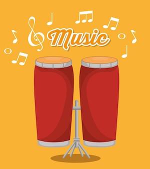 Bongos musical instrument label
