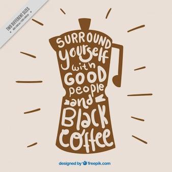 Bonita escritura de café