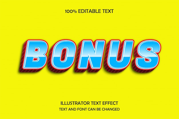 Bonus, editable text effect modern pattern style