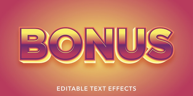 Bonus editable text effects