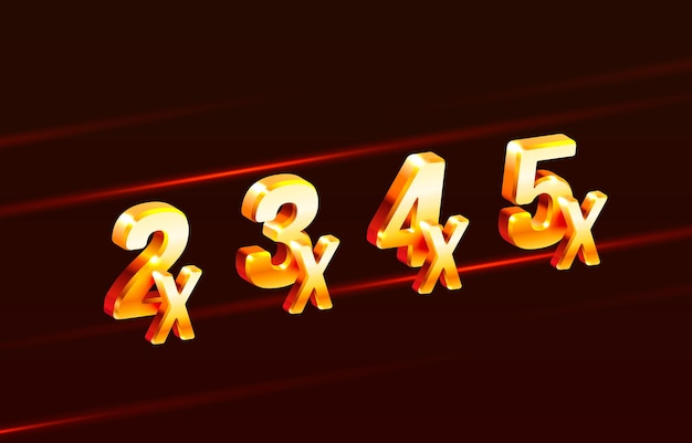 Bonus prize winner for big jackpot game casino sign set
