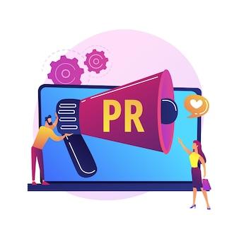 ボーナスプログラム、割引とギフト、広告キャンペーン。バイヤーへのオファー、商品プロモーション。メガホン漫画のキャラクターとプロモーター
