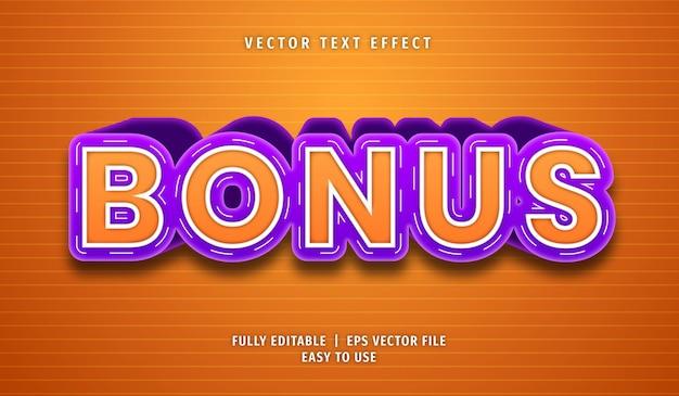 Bonus text effect, editable text style