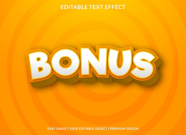 Bonus text effect template