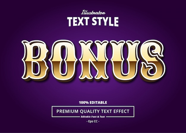 Bonus text effect