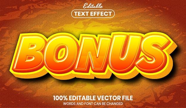보너스 텍스트, 글꼴 스타일 편집 가능한 텍스트 효과