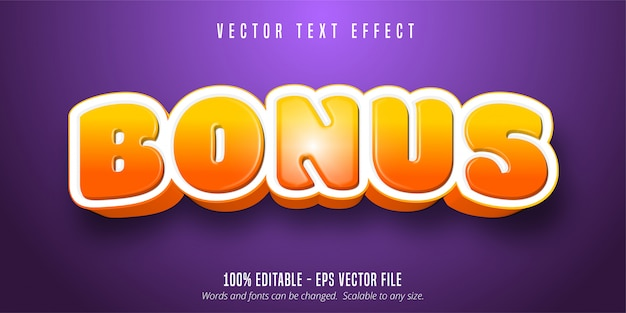 Bonus text, game style editable text effect