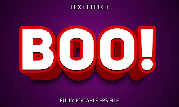 Boo 3d style text effect