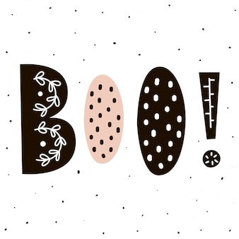 Boo! lettering in scandinavian style