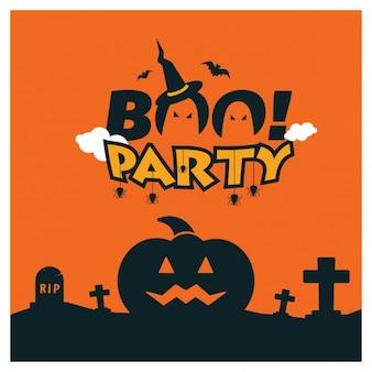 Шаблон boo party halloween