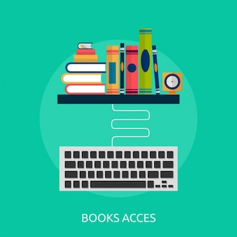 Book access background design