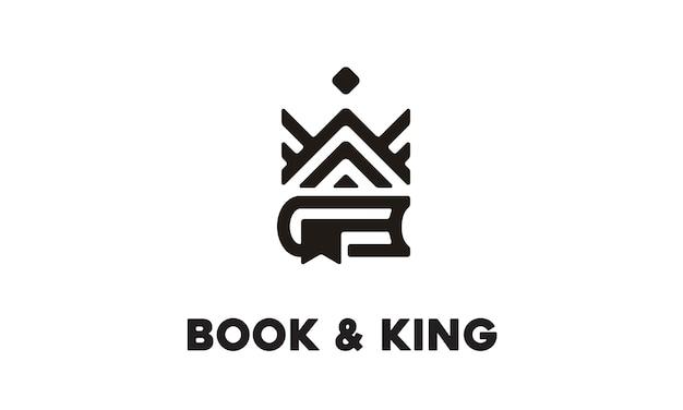 ブックとキングのロゴデザイン