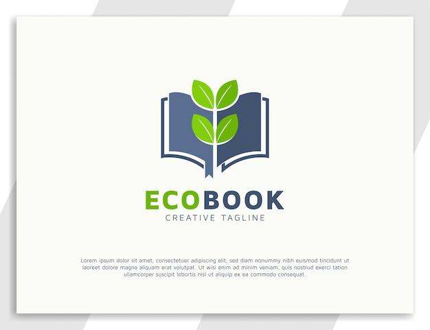 本と葉のロゴのコンセプトデザイン