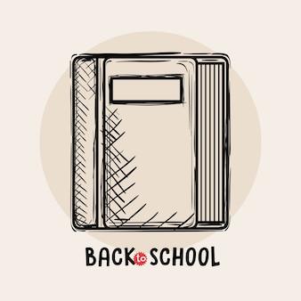 Book back to school drawing vector illustration design