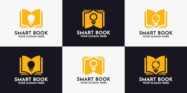 Book bulb logo design, inspiration logo for library and smart education