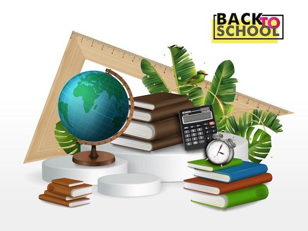 책 수집, 책 클럽, 다시 학교로, 책 더미. 벡터 일러스트입니다.