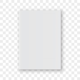Book cover blank white vertical design template.