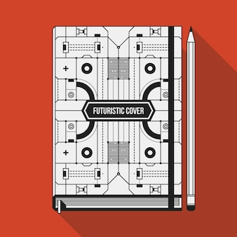 Book cover design template.