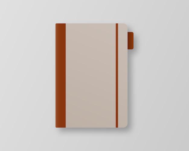 ブックカバー 。灰色の背景の空の本の表紙のテンプレート。 。テンプレート 。