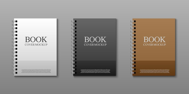 Book cover mockup template, vector illustration